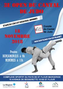 3ème Open du Cantal de Judo @ Complexe Multisports Intercommunal