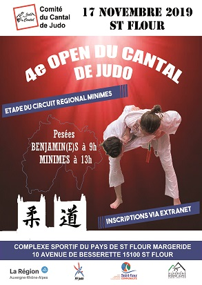 4ème Open du Cantal de Judo @ Complexe Multisports Intercommunal